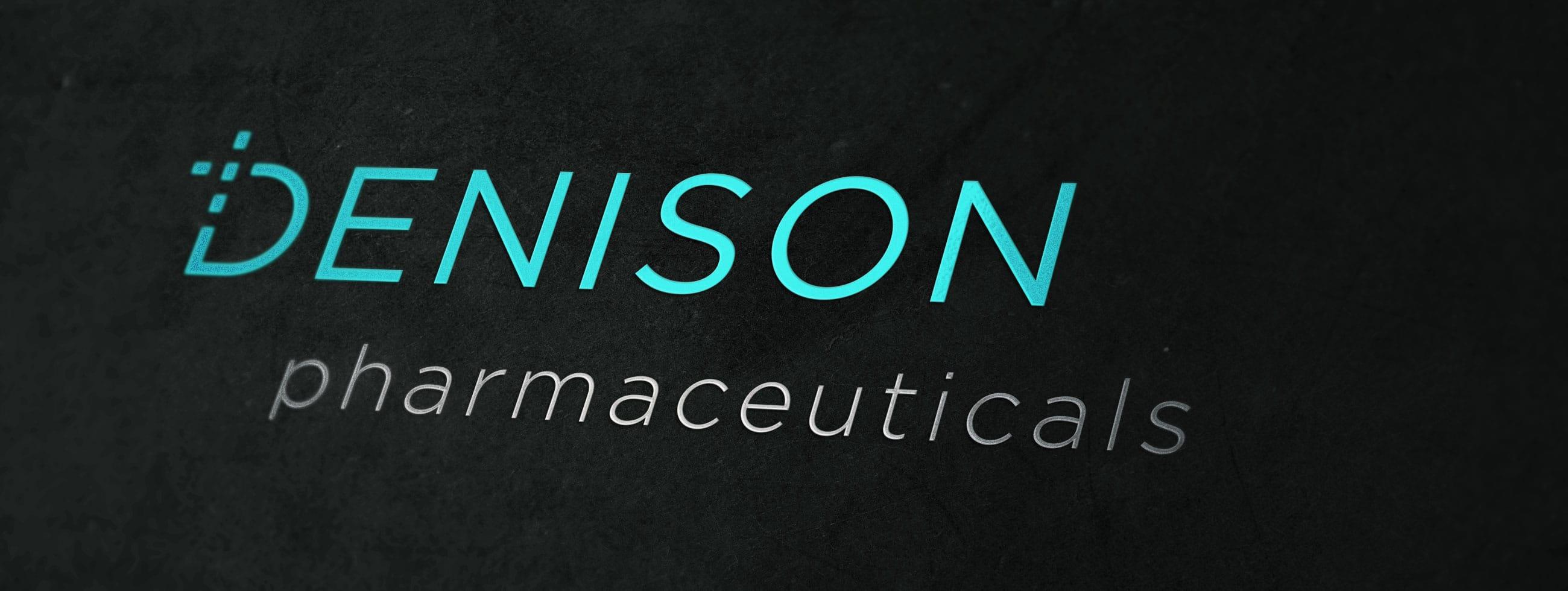 logo design and promotional branding for Denison Pharmaceuticals in Lincoln, RI