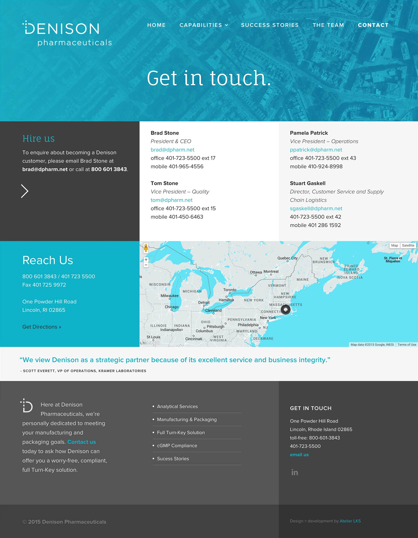 responsive website design and development: Denison in Lincoln, Rhode Island