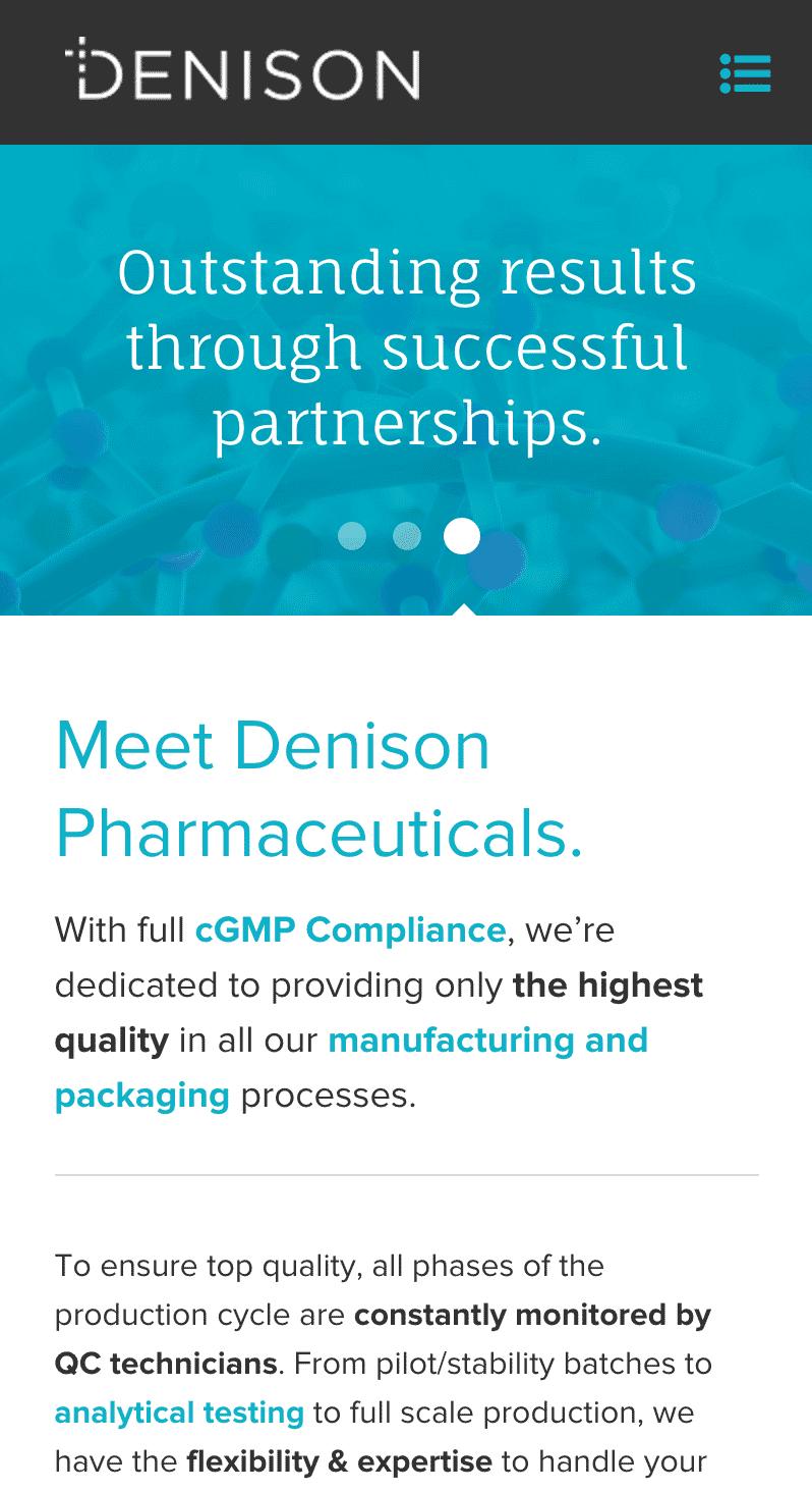 website design and development: Denison in Lincoln, Rhode Island