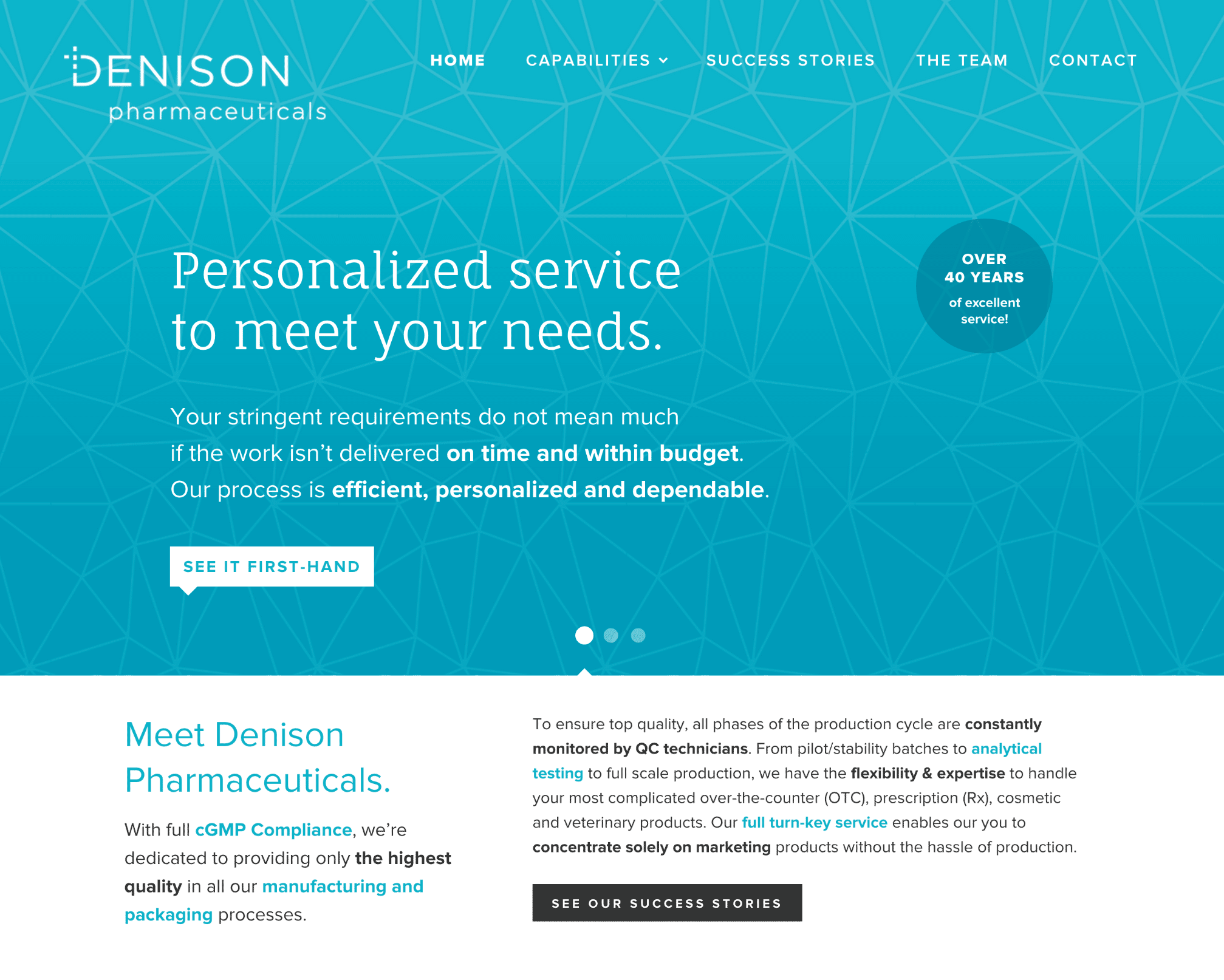 website design and development: Denison in Lincoln, Rhode Island