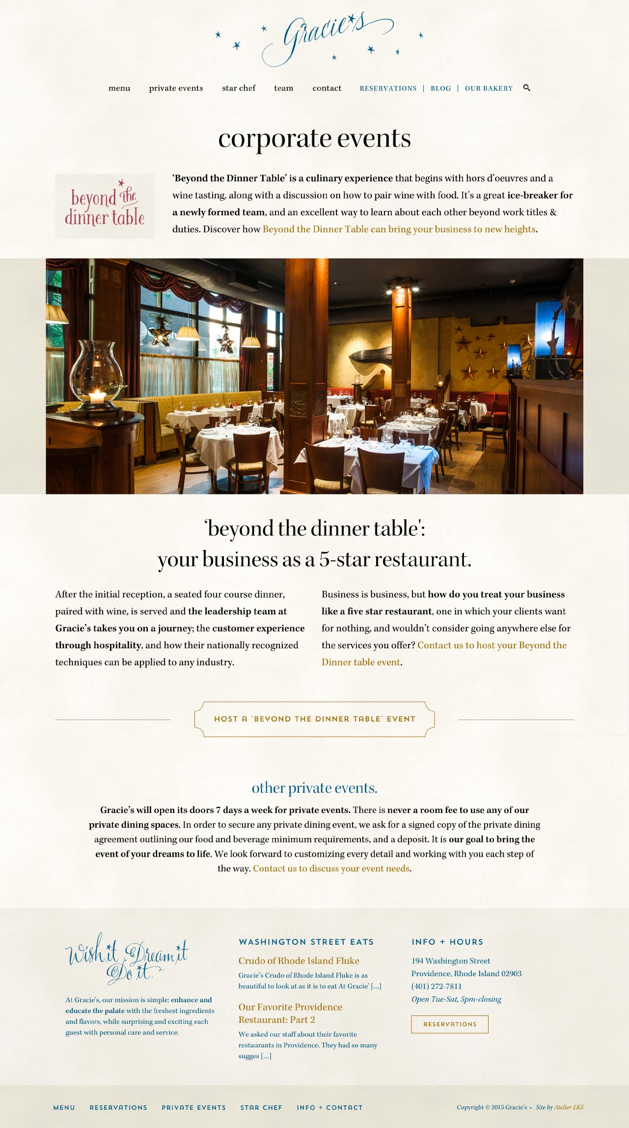 responsive website design for Providence, RI, restaurants