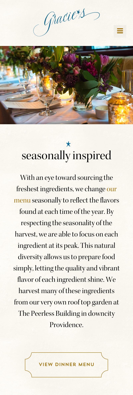 responsive website design for restaurants