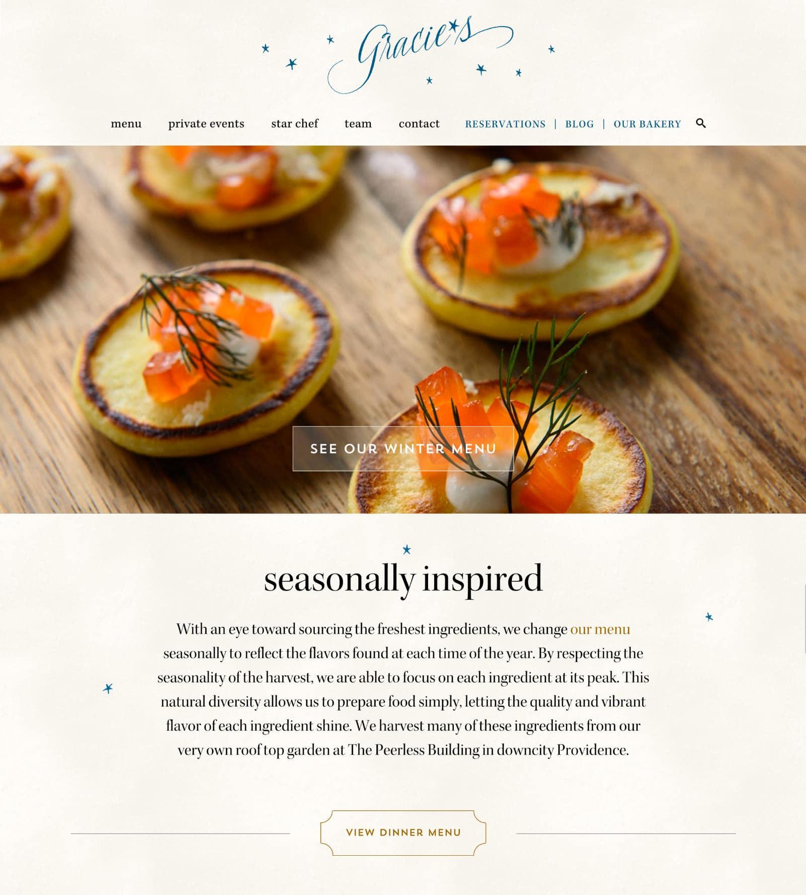 custom web design for restaurants