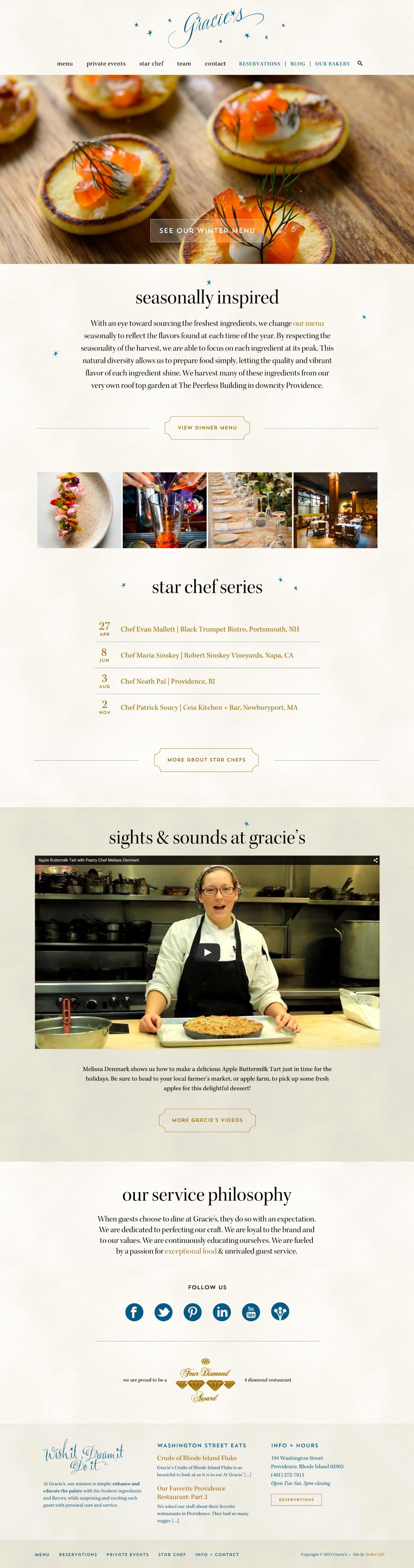 responsive website design for restaurants
