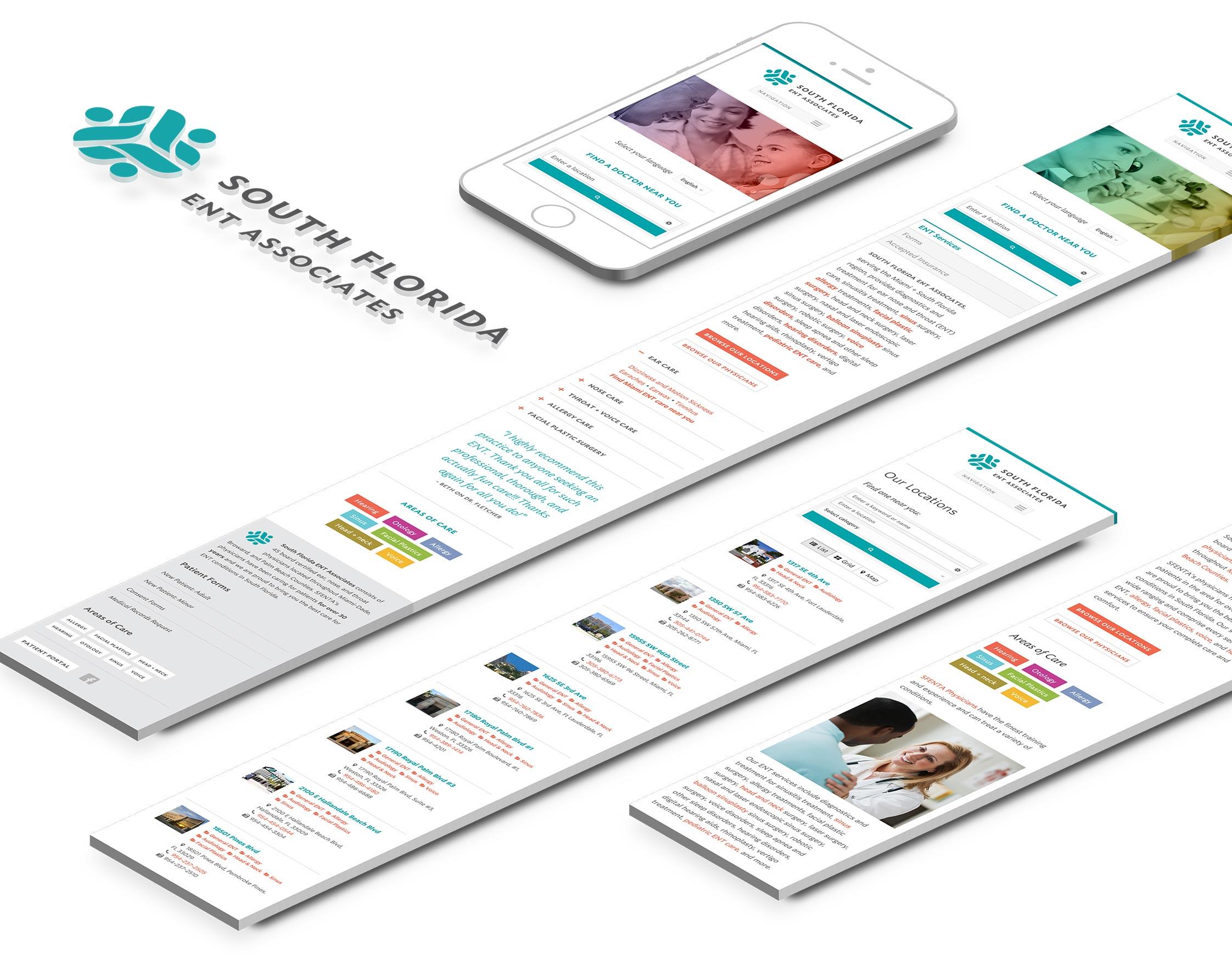 logo design and web development: South Florida ENT Associates