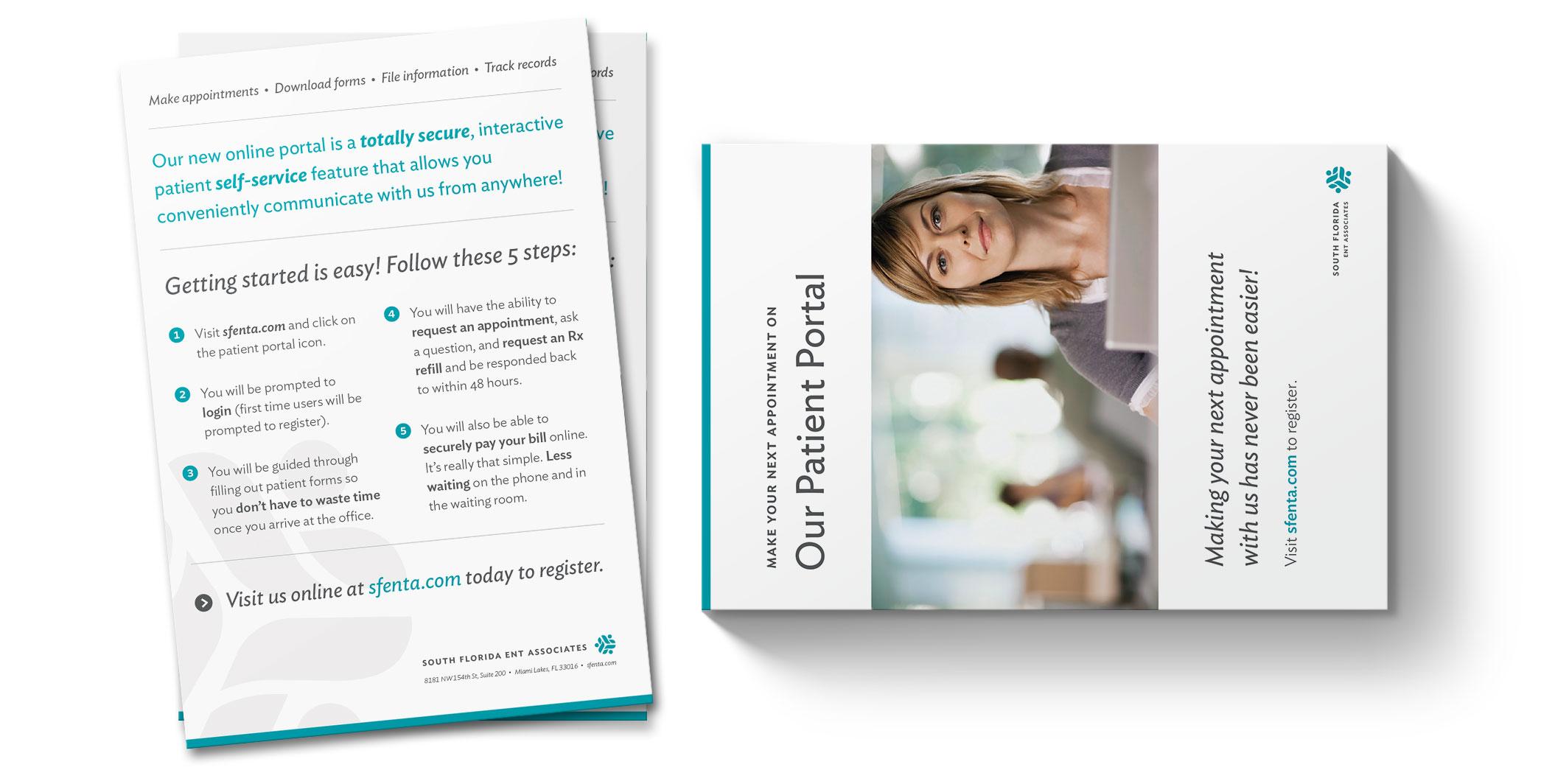 print marketing and postcard design: SFENTA