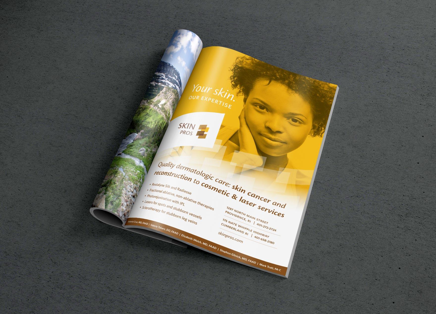 magazine advertisement for skincare business