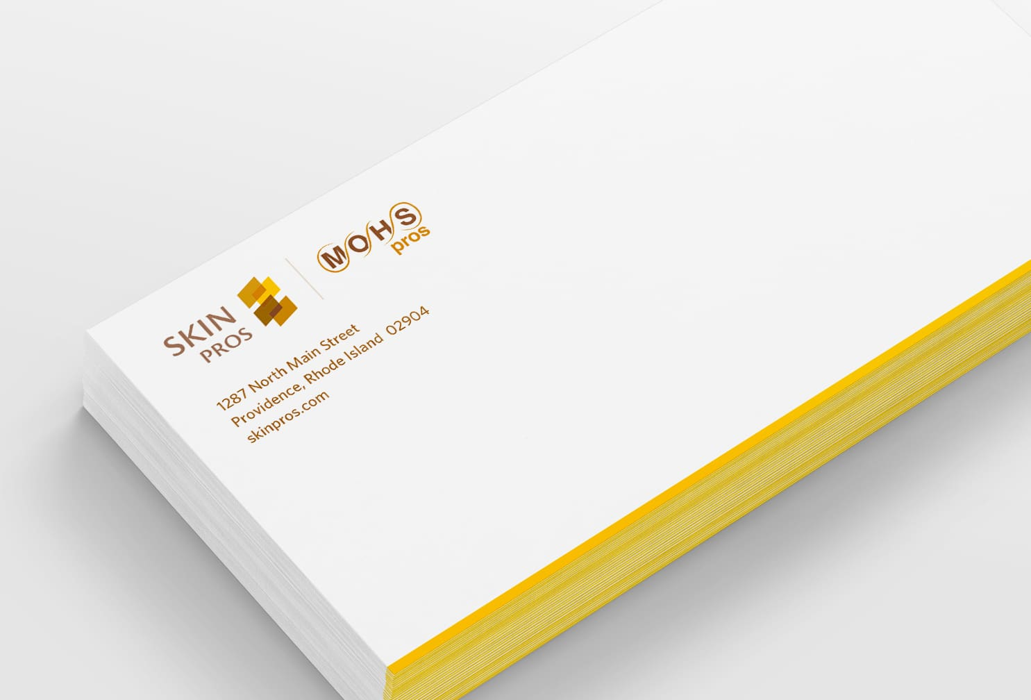 business card and letterhead design for medical skincare company