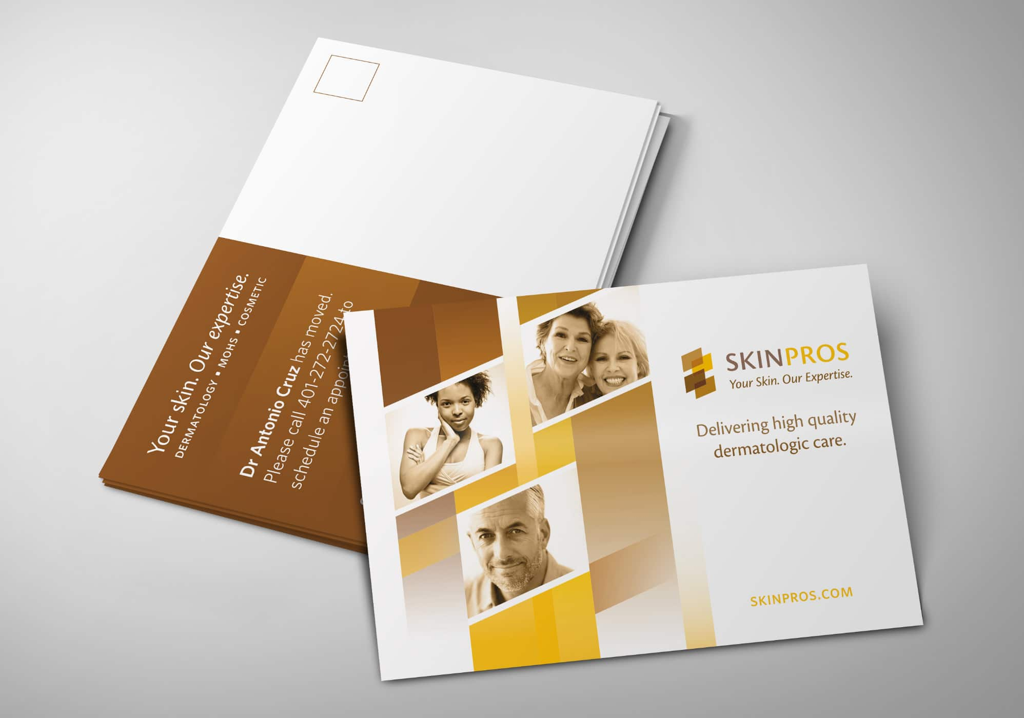 postcard and brochure design