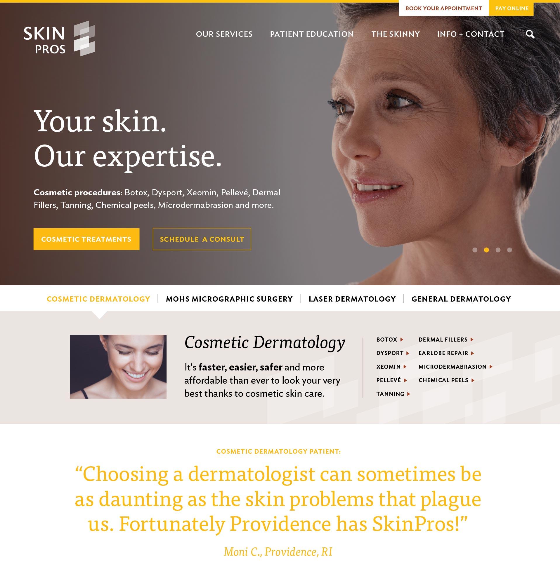 website design for medical care company