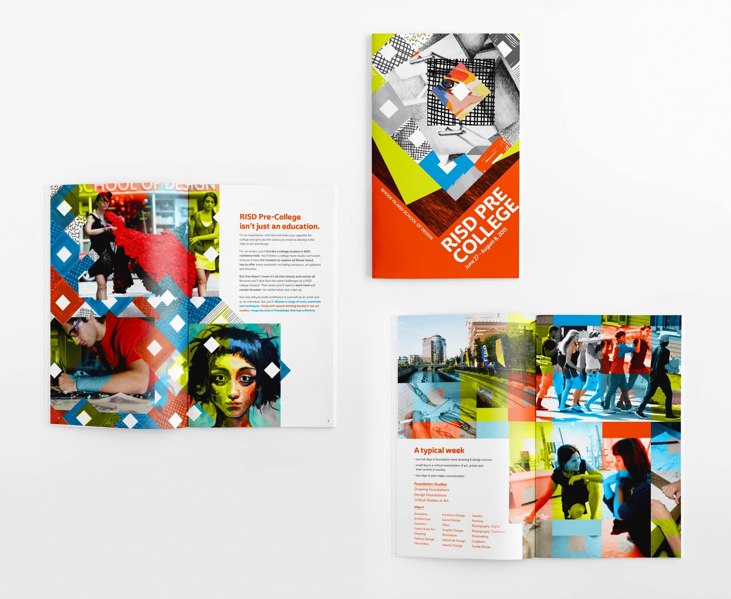 student brochure design and marketing for RISD, Providence, RI