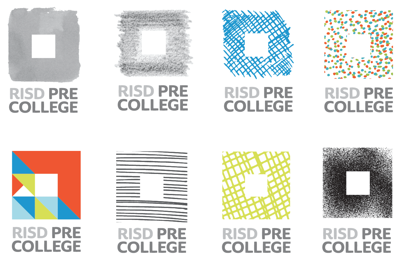 brand and logo design for RISD Pre-College, Providence, RI
