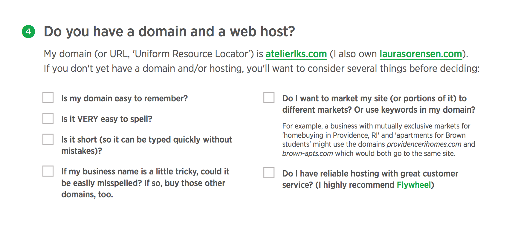 Do you have a domain name and a web host?