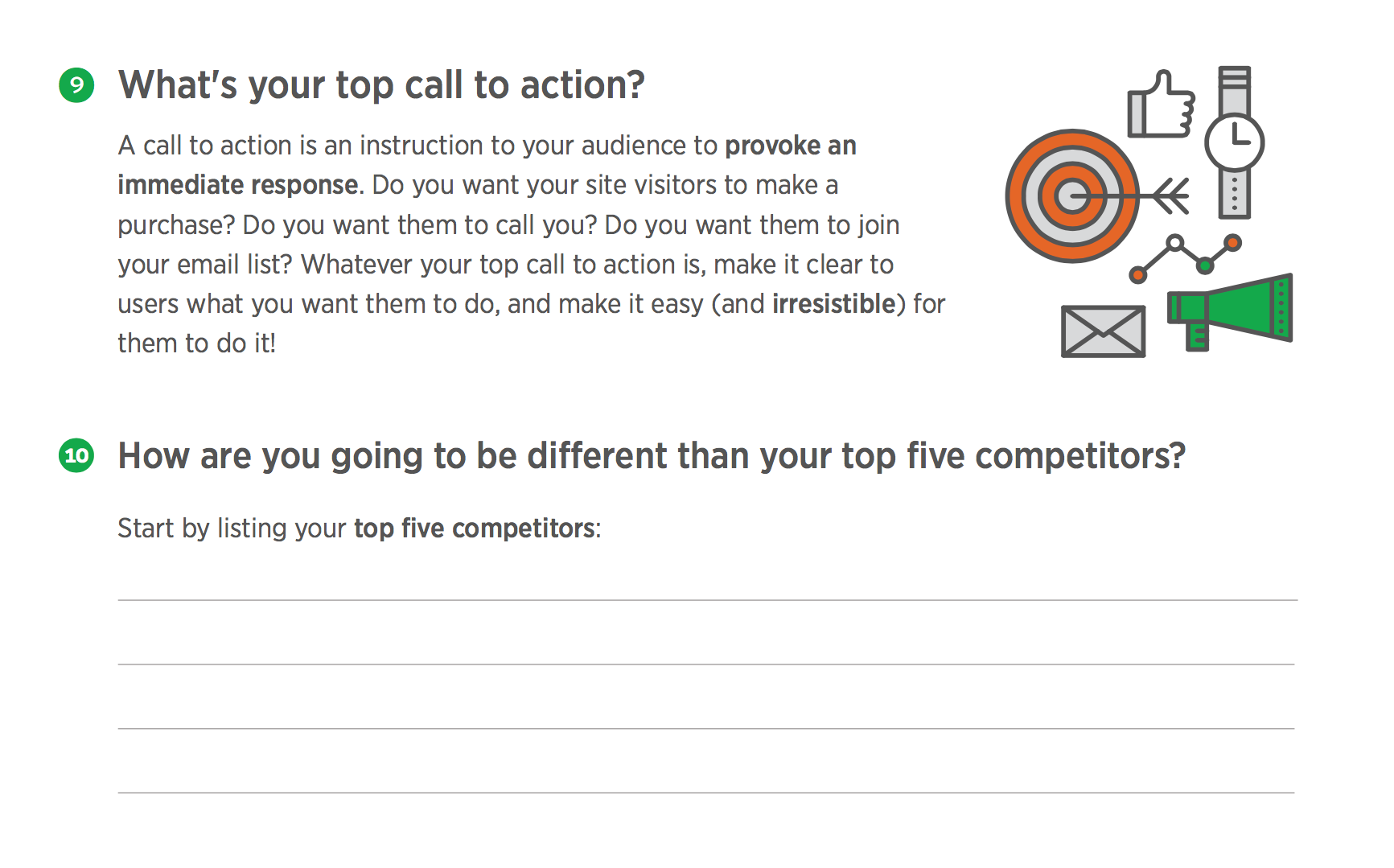 What's the top call to action on your website?