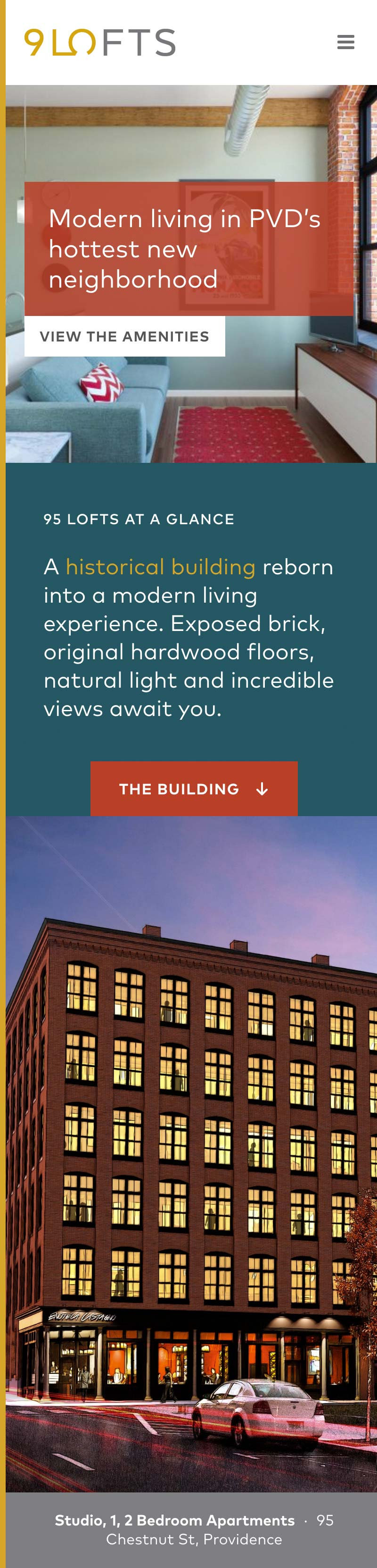 web design and development for Providence real estate company