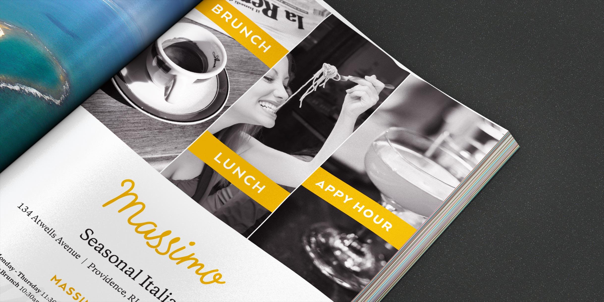 Restaurant logo, branding, advertisement, signage and web design
