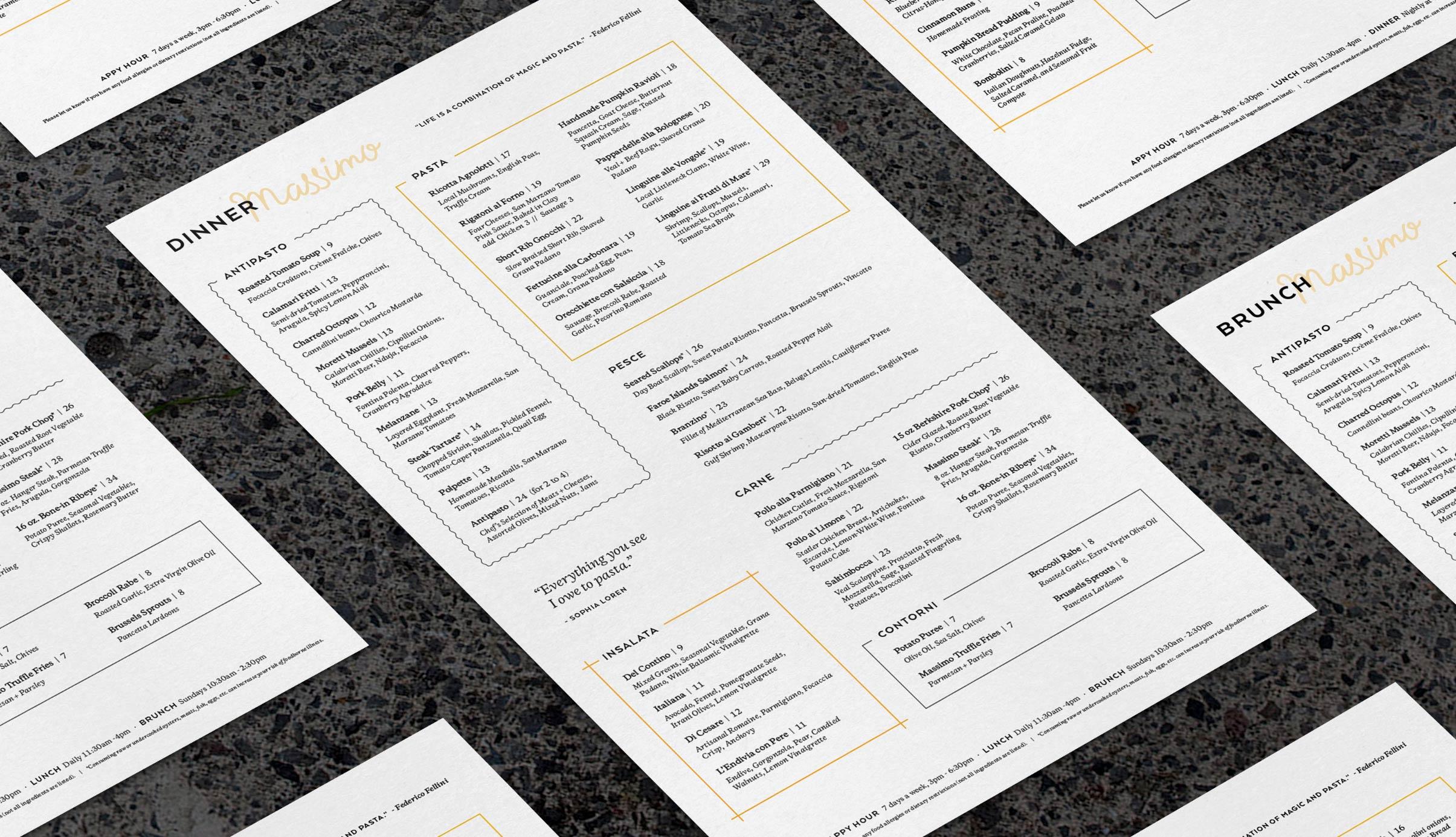 menu design for restaurants in Rhode Island