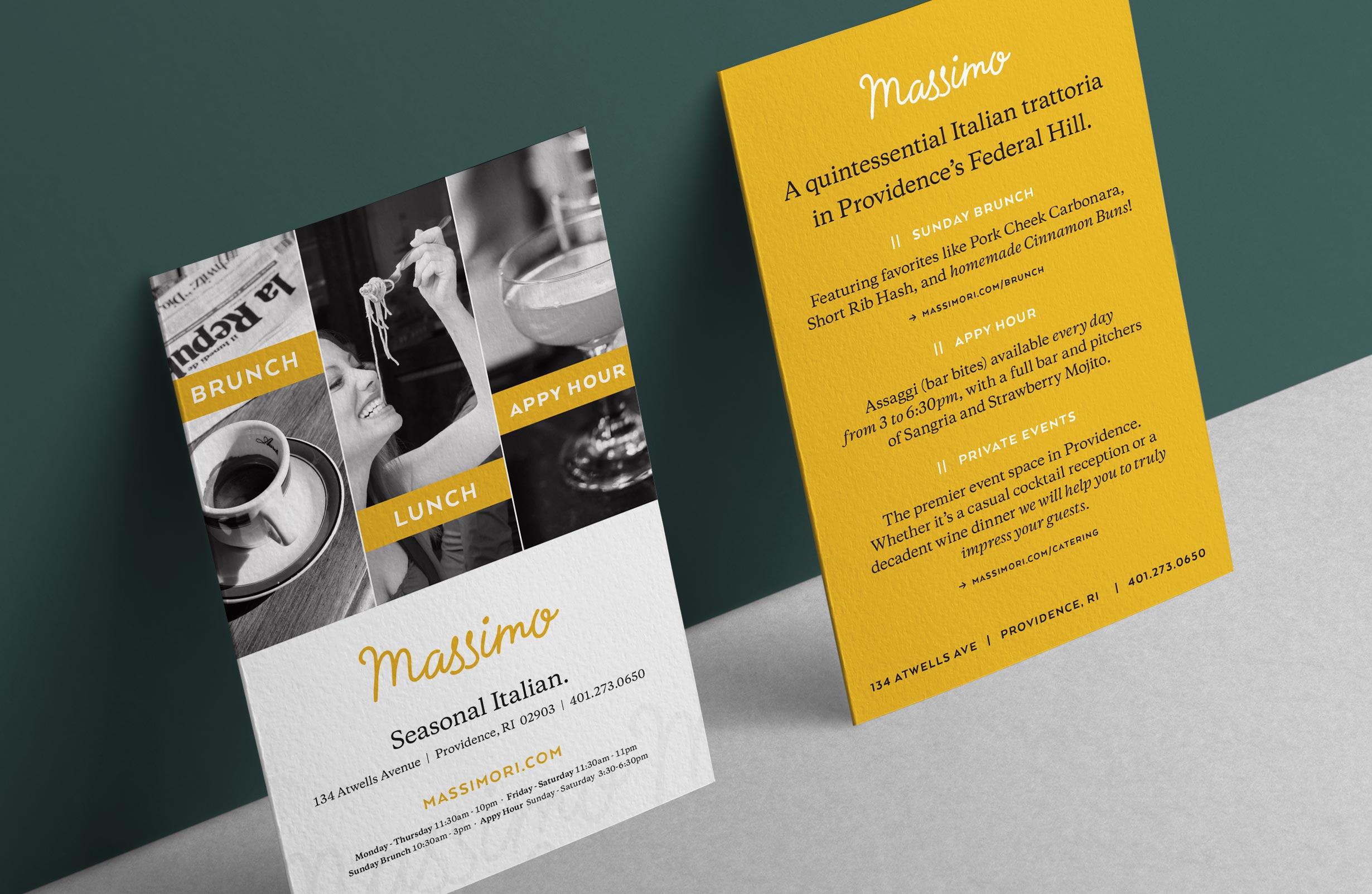 Providence restaurant logo, branding, advertisement, signage and web design