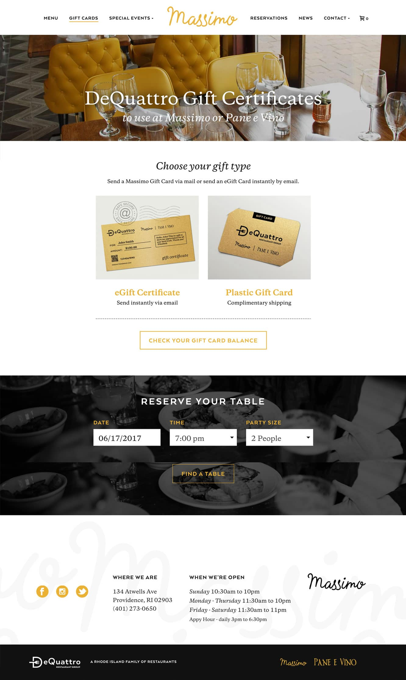 RI restaurant website design and development
