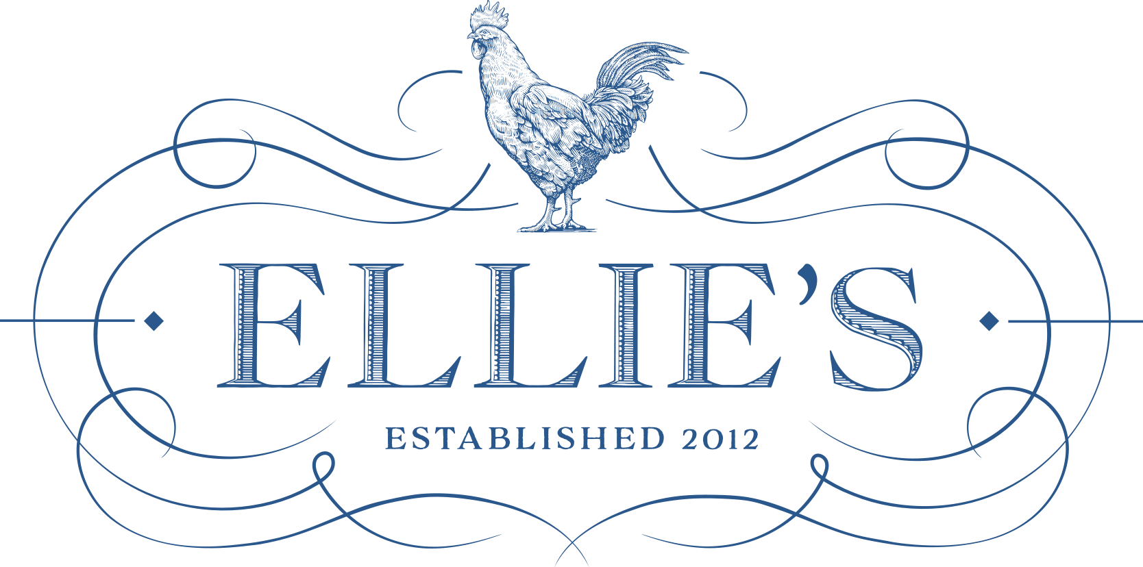 Serif font example: Ellie's Bakery logo