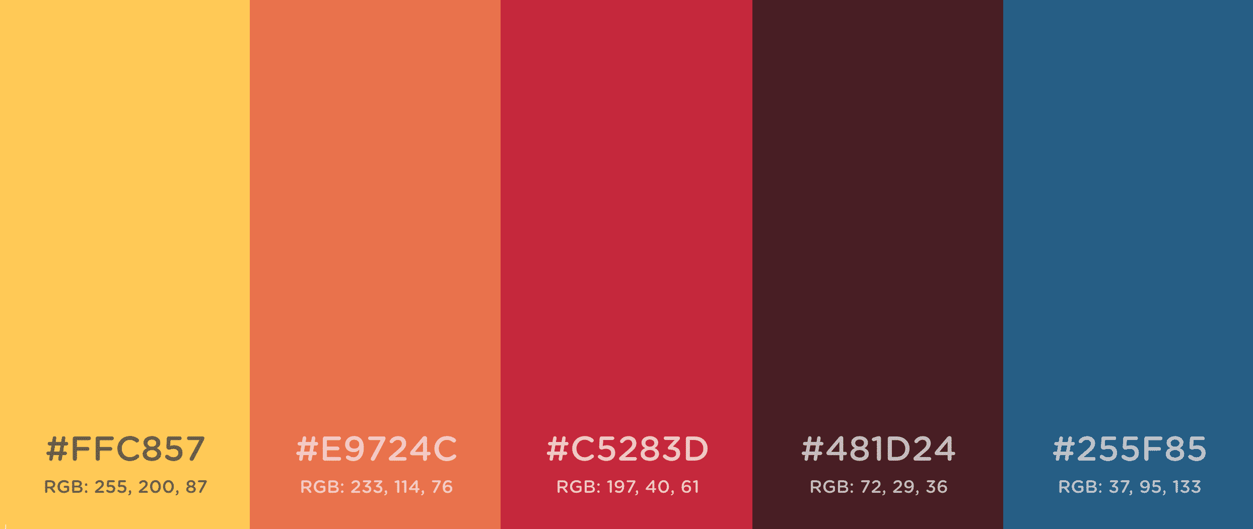 Hex colors and their RGB numbers