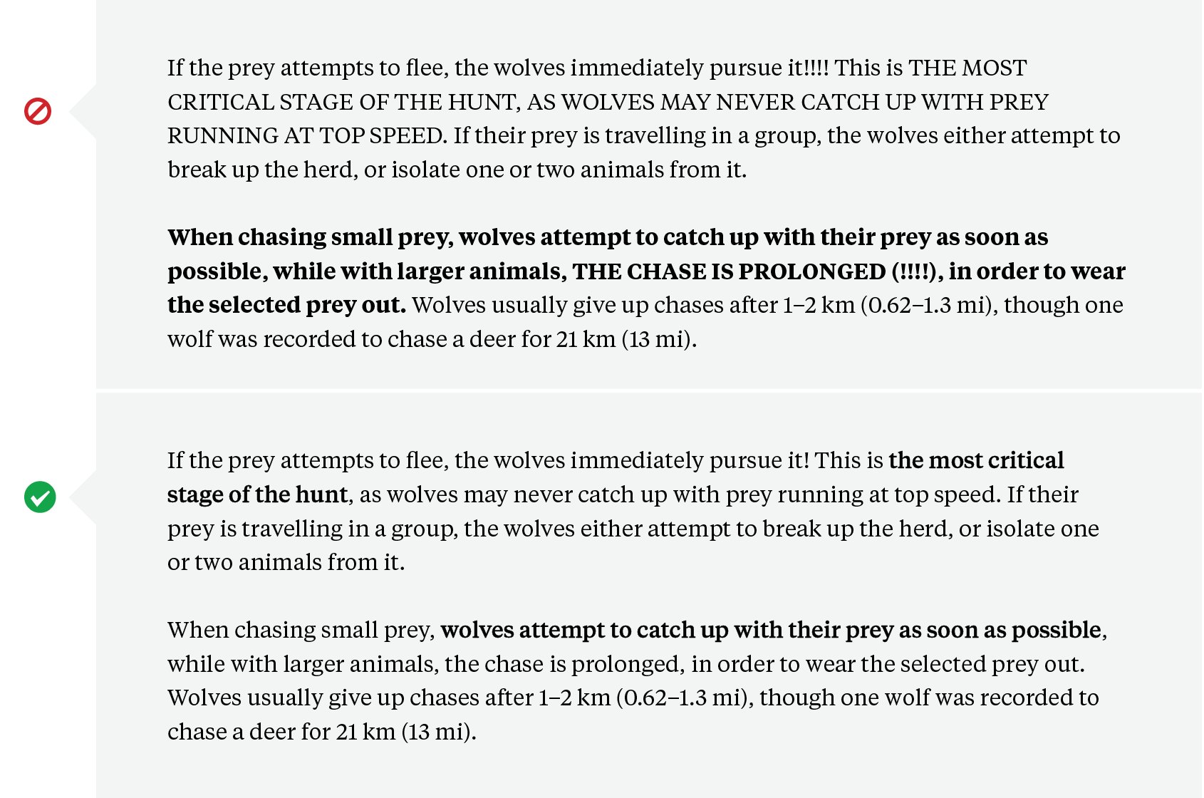 Text Formatting: Fixing too many caps and exclamation marks