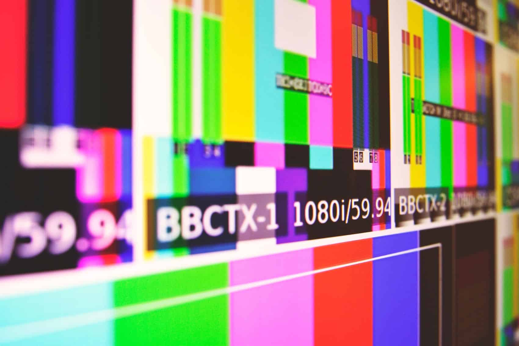 RGB color mix on a TV screen