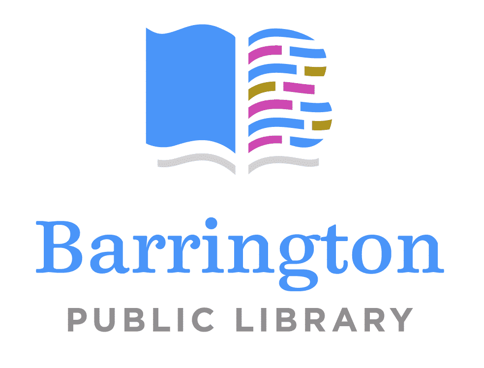 Serif font example: Barrington Public Library logo