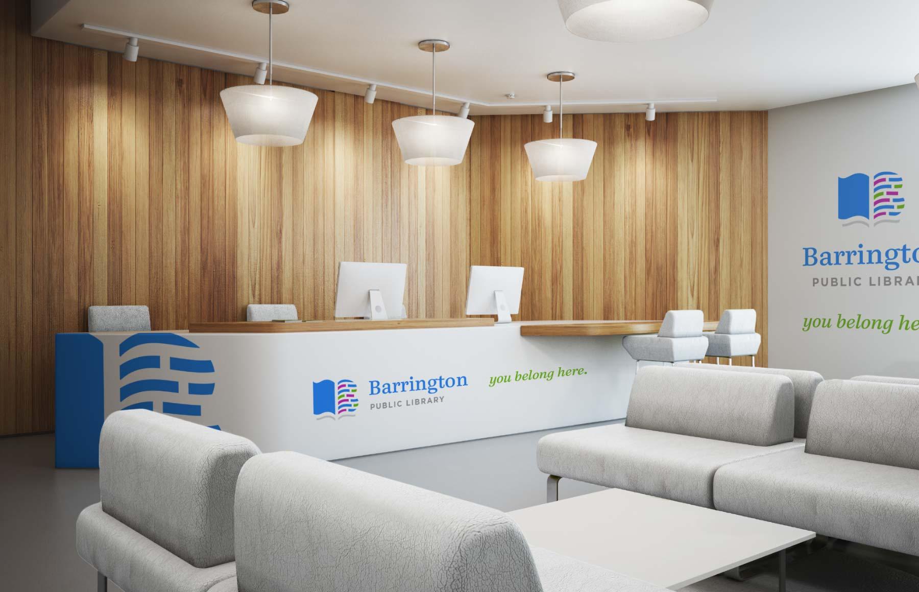 Barrington Public Library interior office design
