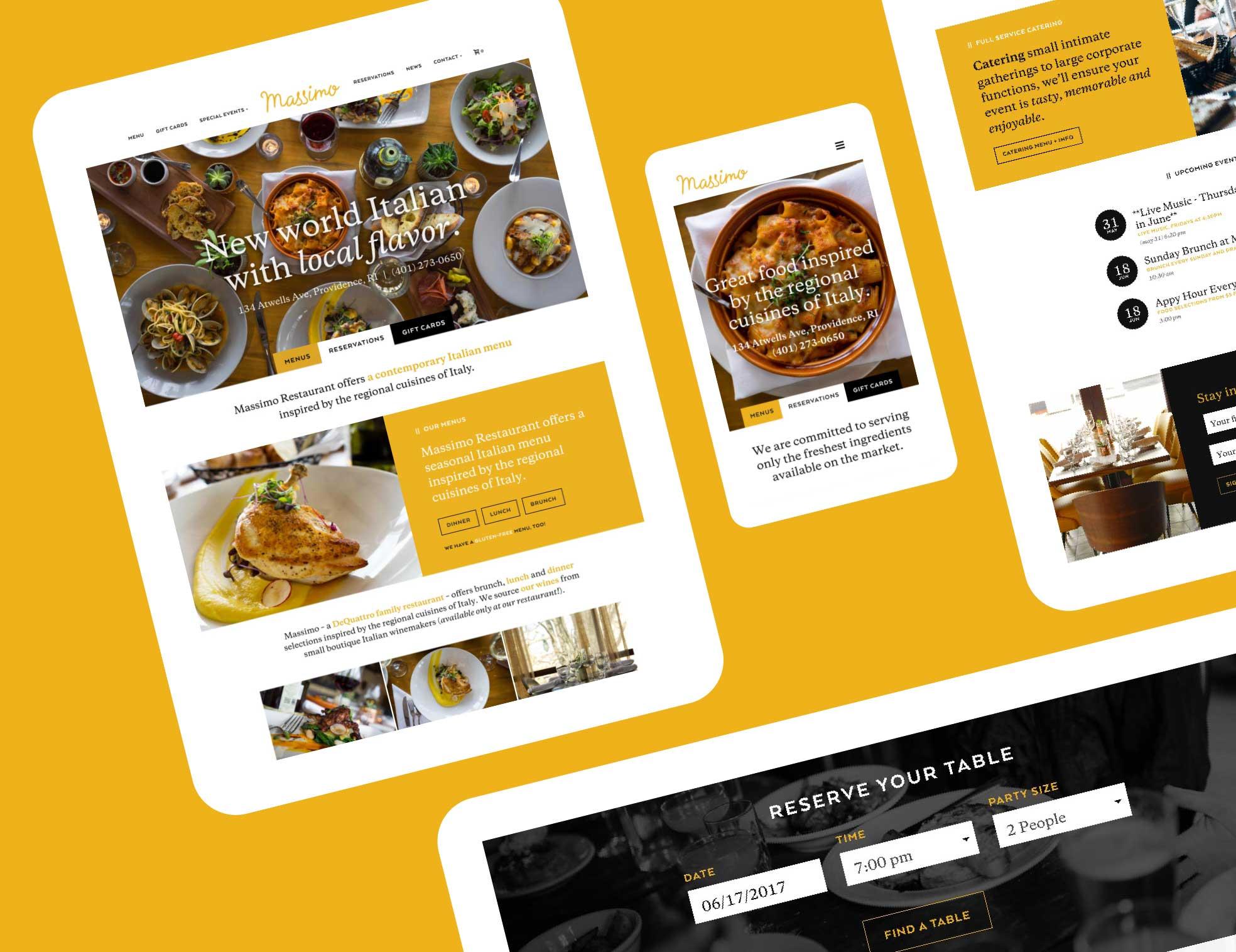 RI Italian restaurant website design and development