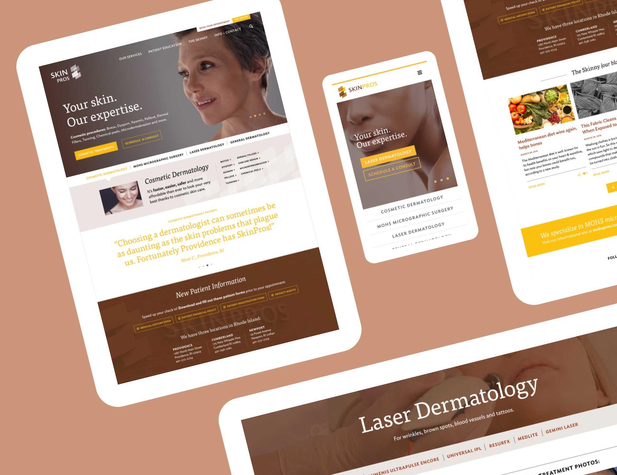 SkinPros web design and development