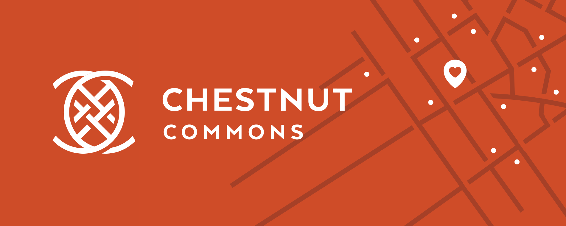 Chestnut Commons logo reversed out