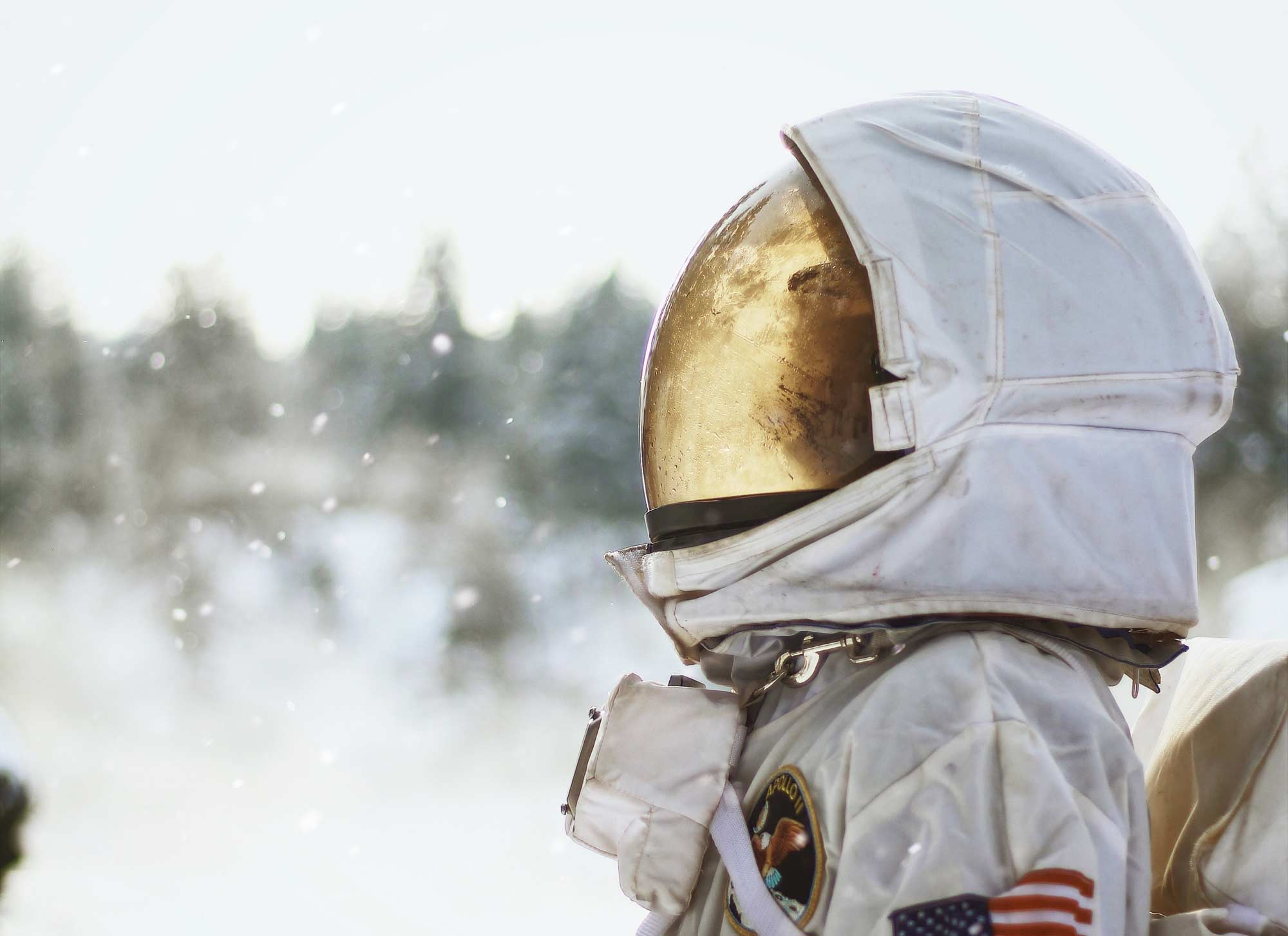 Astronaut looking up