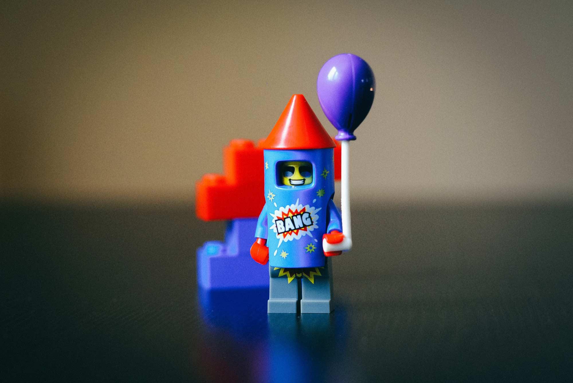 Lego rocket man ready for takeoff