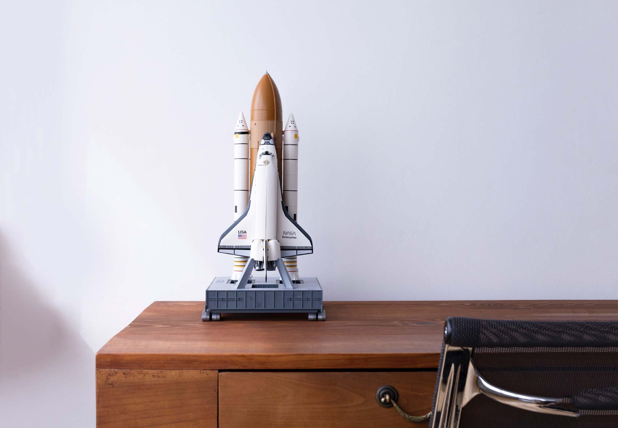 Rocket ship on my desk