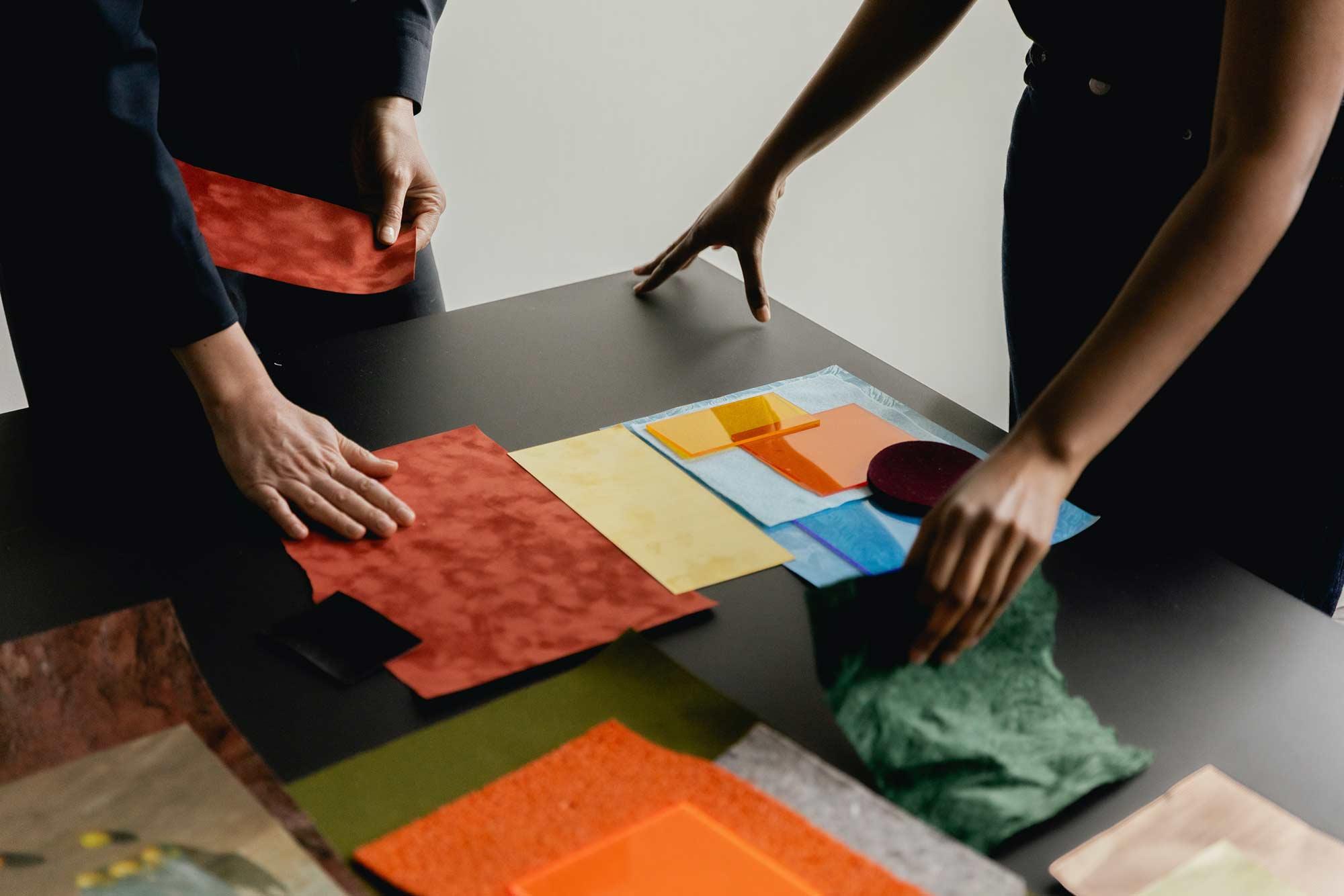 Designer designing marketing materials