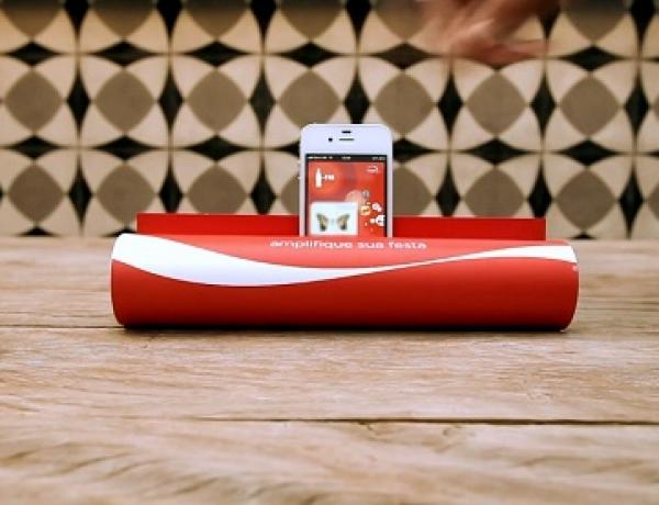 Coca-Cola Print Ad Transforms Into A Simple DIY iPhone Speaker