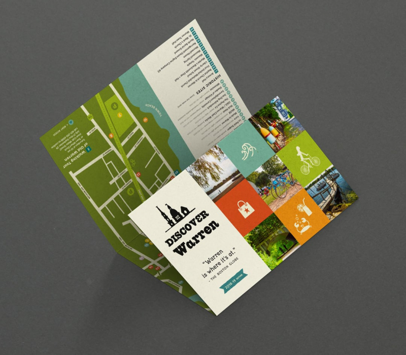 Discover Warren Map brochure